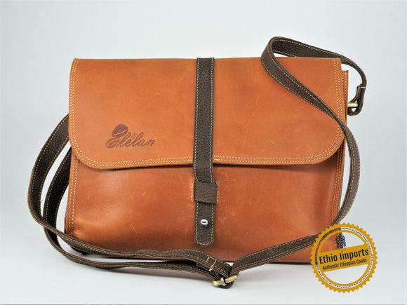 Brown medium shoulder bag