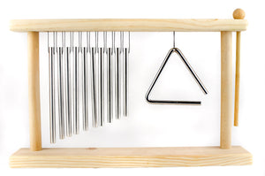 Children's Musical Wooden Toy Chime and Triangle Nursery décor