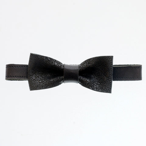 Bow Tie Chrome Black - Pattern - The Maximus Man