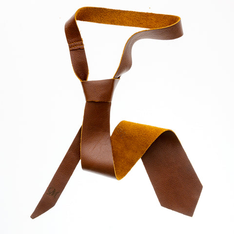 Leather Tie - Morocco Straw - The Maximus Man