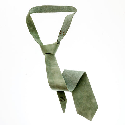 Leather Tie - Cosmo Green - The Maximus Man