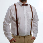 Suspenders - Burgundy Brown - The Maximus Man