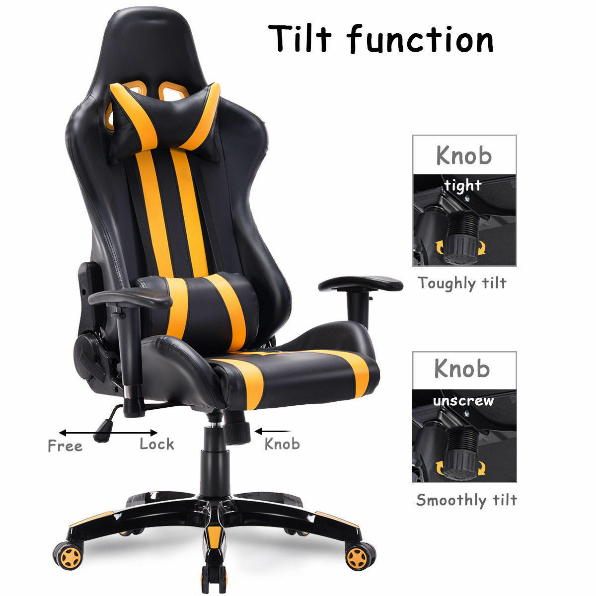 Stupendous Bumble Bee Racer Executive Gaming Chair Squirreltailoven Fun Painted Chair Ideas Images Squirreltailovenorg