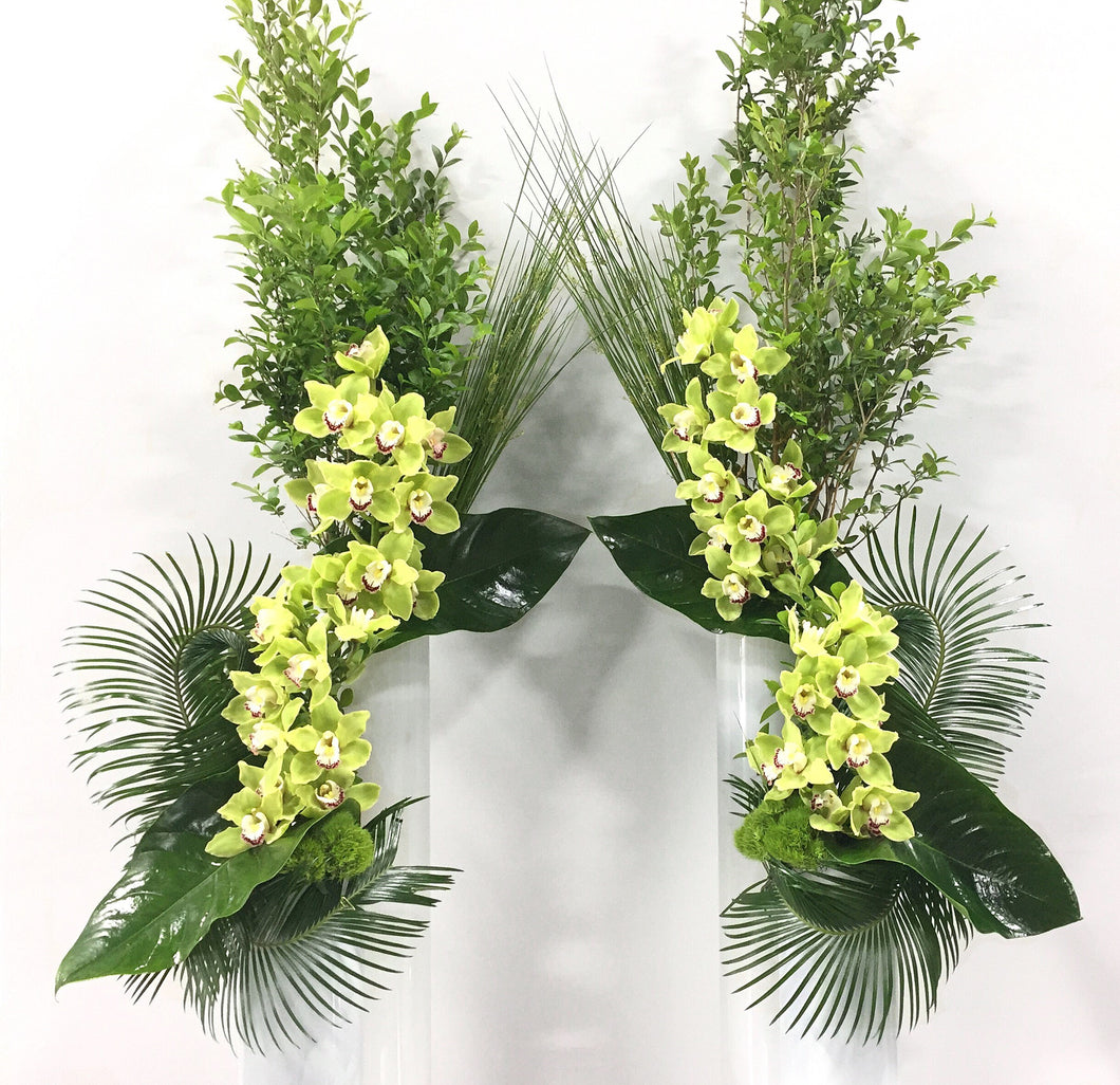 brand-focused and impactful orchid display