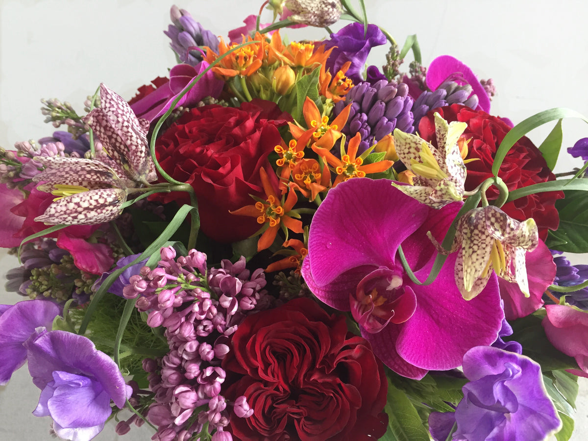 Jewel-Tone Flower Arrangements or Bouquet - Designer's Choice