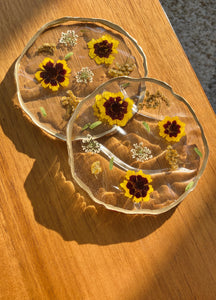 Floating Botanical Coaster - Sunshine