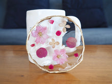 Blushing Pink Crush Botanical Coaster