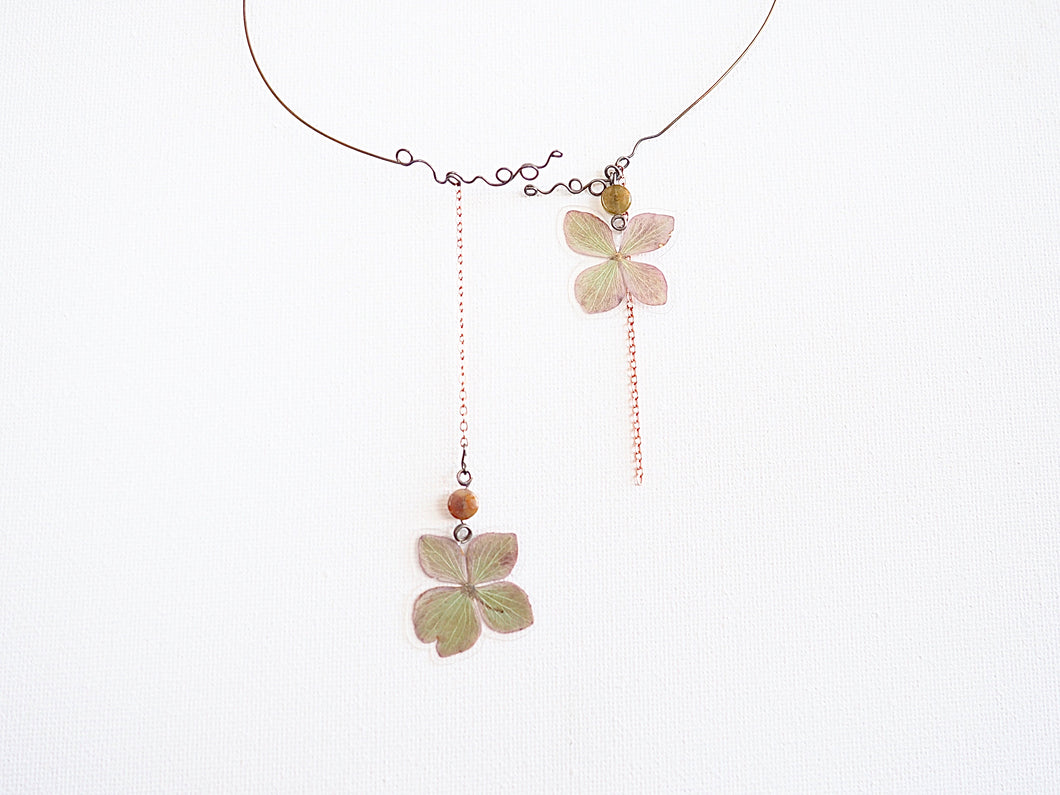 Hydrangea and Vine Hugger Necklace - Limited Drop