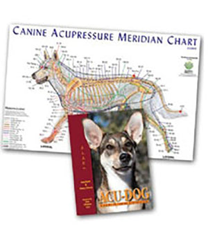canine acupressure meridian chart and book
