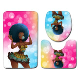 African girl bath mat