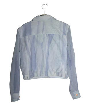 Jump Right In Jacket with Sheer Sleeves