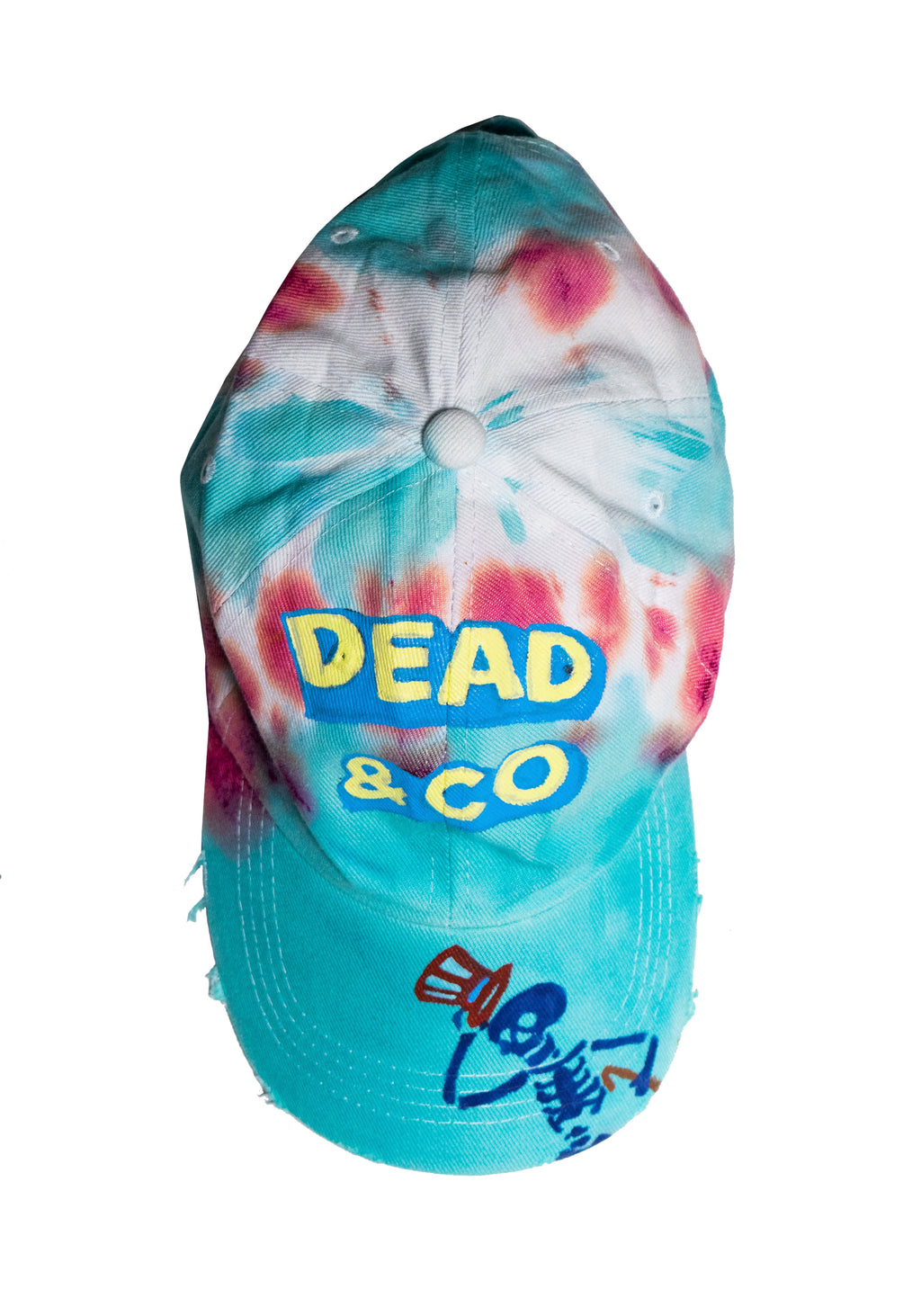 Baseball Cap, Unisex, Tie Dye, Dead & Co Skeleton