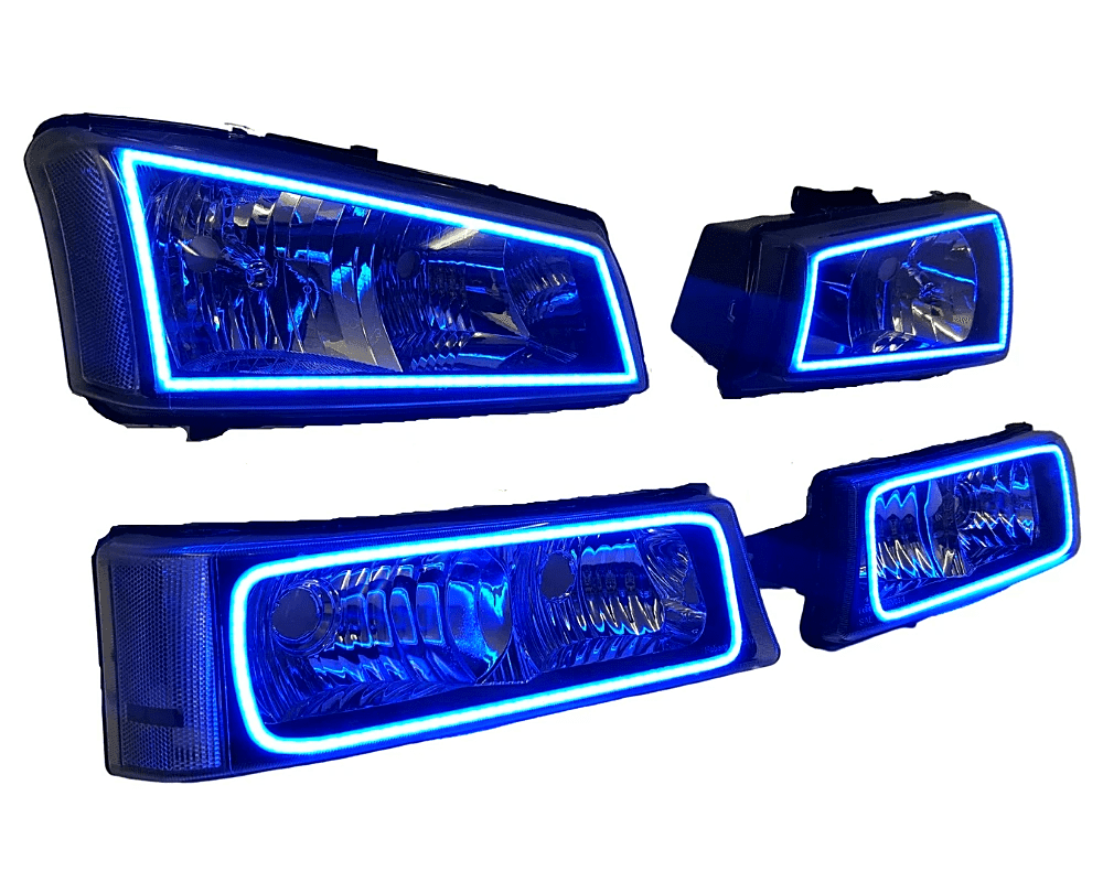 03-06 Chevy Silverado Pre-built Halo Headlights
