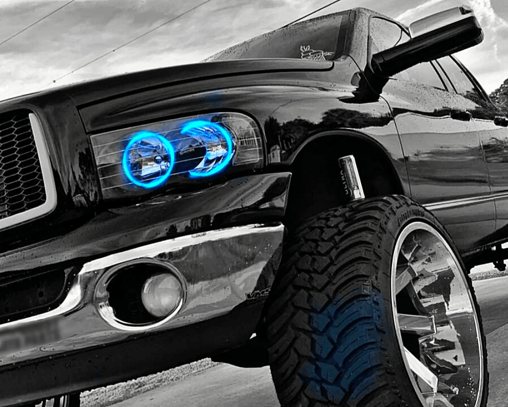 02-05 Dodge Ram Pre-built Halo Headlights