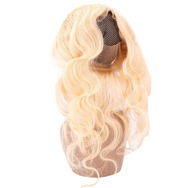 Russian Blonde Virgin Brazilian 360 Lace Band Frontal - Body Wave