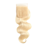 Russian Blonde Brazilian Lace Closure - Body Wave