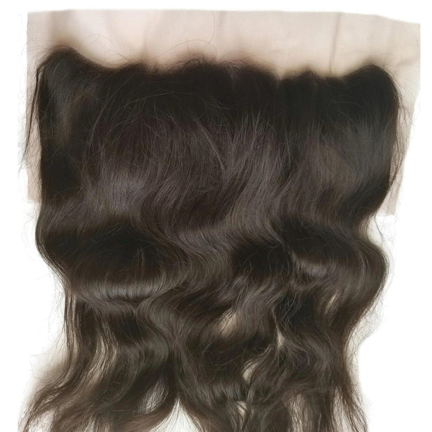 100% Raw Indian Lace Frontal - Natural Wavy - Farrah Beauty