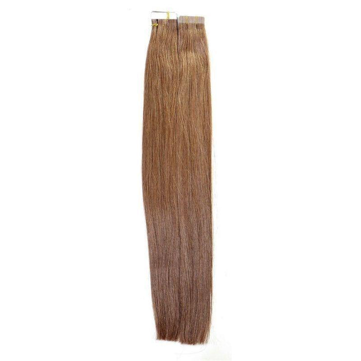 Tape-In Hair Extensions - Chestnut Brown - Farrah Beauty