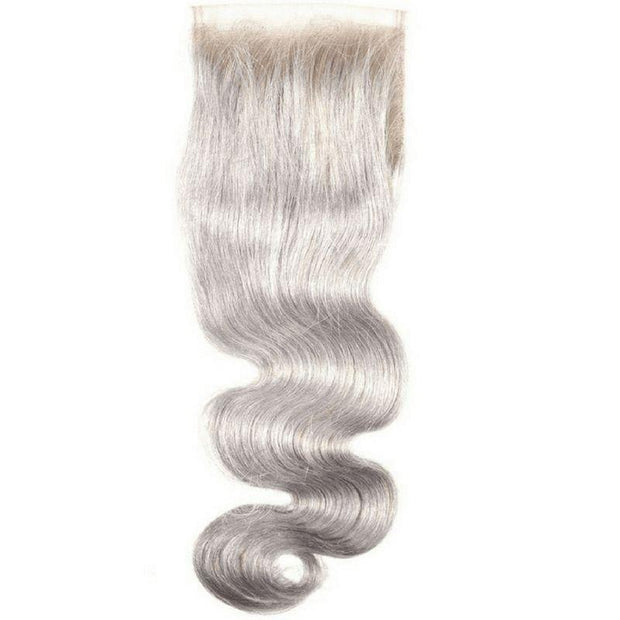 Gray Brazilian Lace Closure - Body Wave - Farrah Beauty