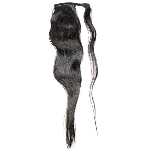 Virgin Brazilian Ponytail - Natural Black - Farrah Beauty