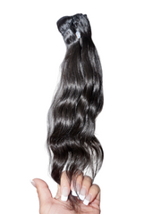 100% Raw Indian Hair Extensions - Natural Wavy
