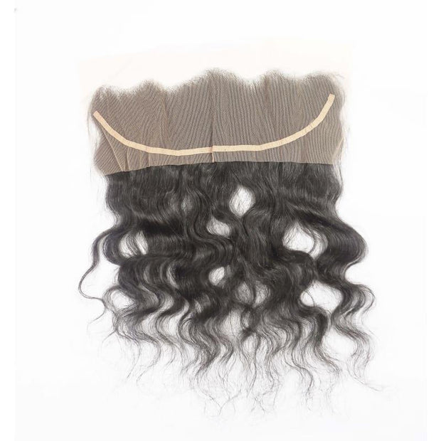 Raw Indian Lace Frontal - Curly - 14 - Indian Curly Frontal