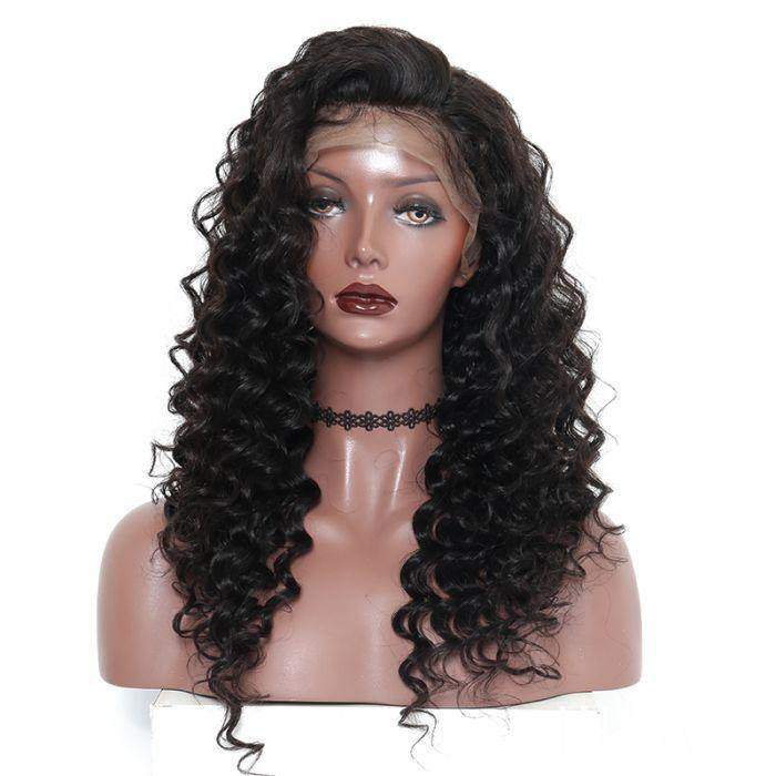 100% Indian Full Lace Wig - Deep Wave - Farrah Beauty