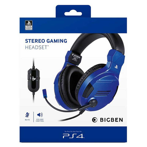 Stereo Gaming Headset V3 Kék - PS4