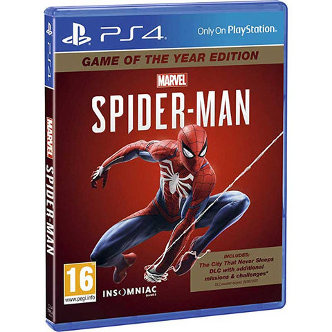 Spider-Man Game of the Year -  PS4