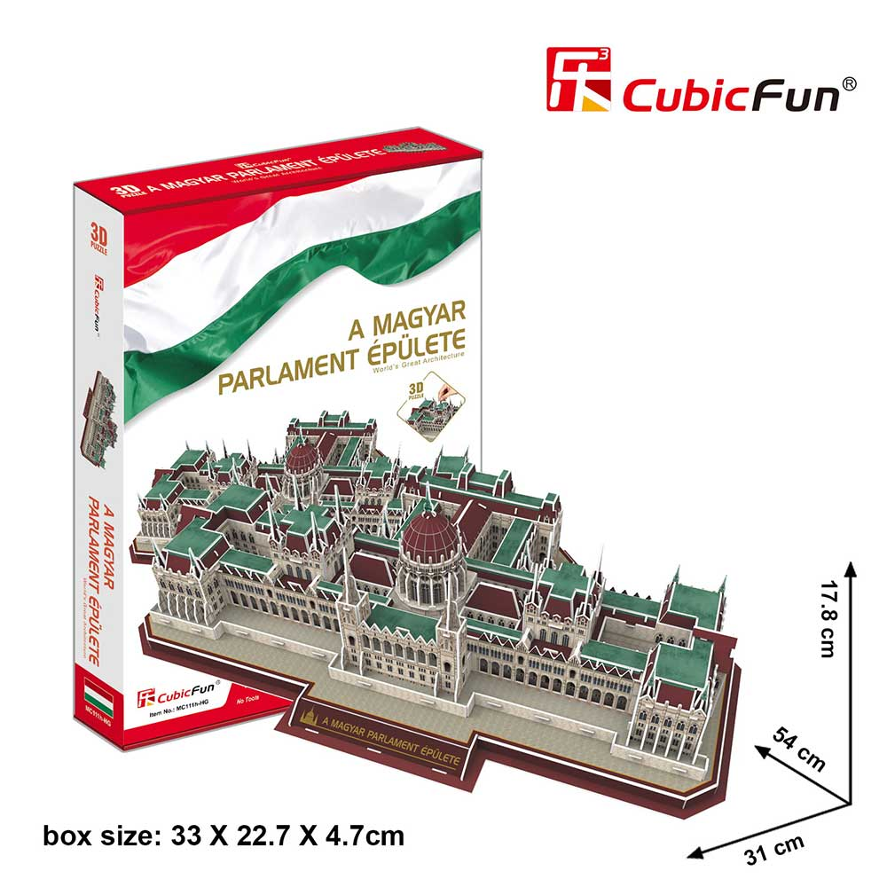 3D puzzle - Magyar Parlament (234 db-os)
