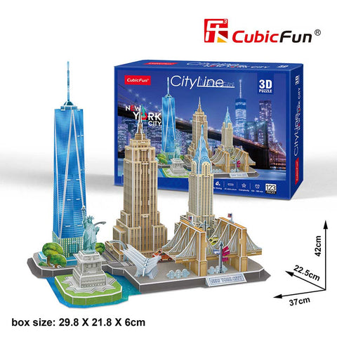 3D puzzle - City Line New York  (123 db-os)