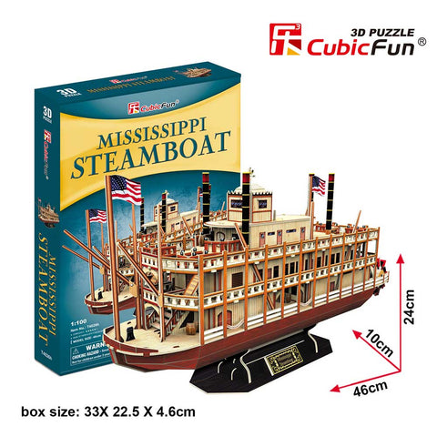3D puzzle - Mississippi Steamboat (142 db-os)