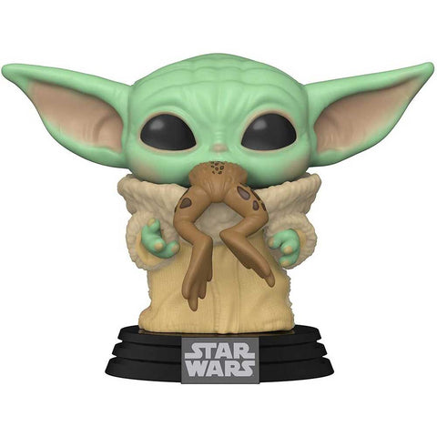 POP Movies The Mandalorian: Mandalorian and The Child with frog figura
