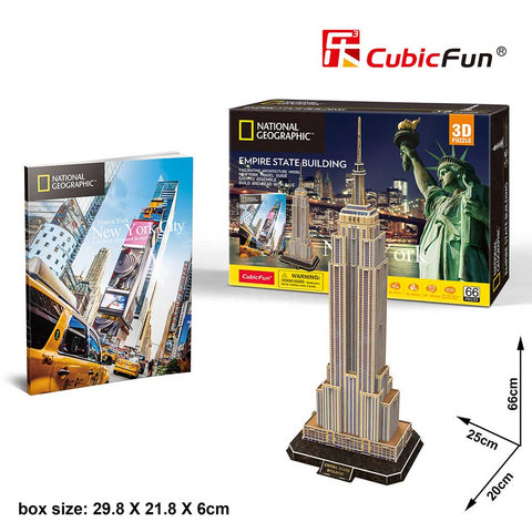 3D puzzle - City Travel Empire State (66 db)
