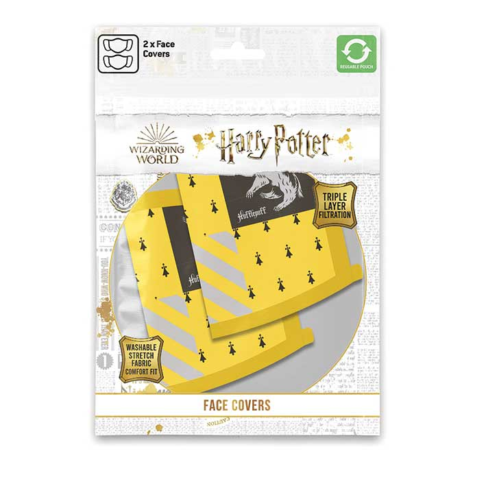 HARRY POTTER Hugrabug arcmaszk (2db)