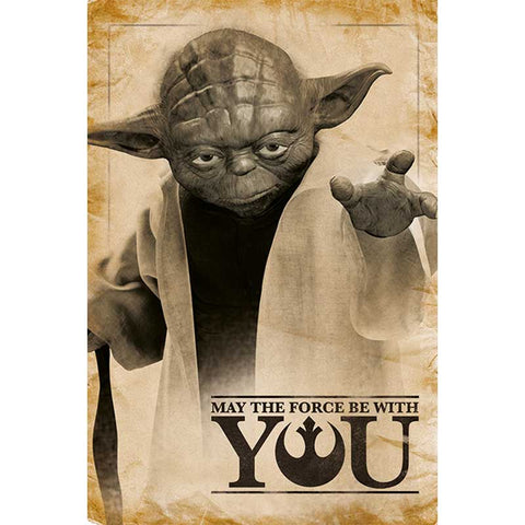 STAR WARS - Yoda, May The Force Be With You poszter