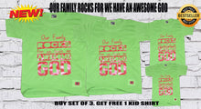 Load image into Gallery viewer, Buy Our  Family Rocks Shirts GET 1 FREE,Plus Free Cross Bracelet
