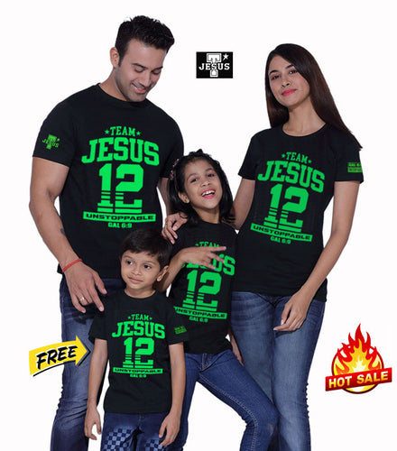 Buy Team Jesus Family Shirt GET 1 KIDS SHIRT PLUS FREE BRACELET