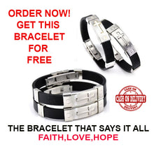 Load image into Gallery viewer, Buy Couple Raglan Get FREE 2 Cross Titanium Steel Bracelet