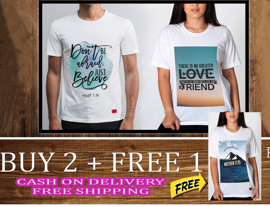 Buy 2 White Shirt. GET 1 FREE. Today promo only.