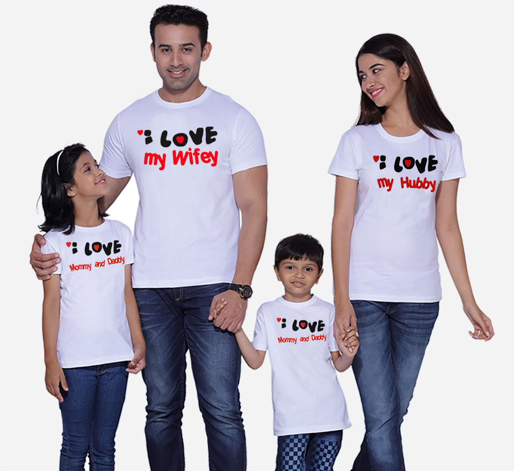 Buy  I Love My Hubby/Wifey Family Shirt GET 1 FREE