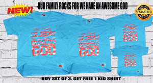 Buy Our Family Rocks Shirts GET 1 FREE,Plus Free Cross Bracelet