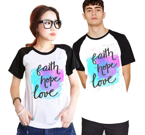 Buy Couple Raglan Get FREE 2 Cross Titanium Steel Bracelet