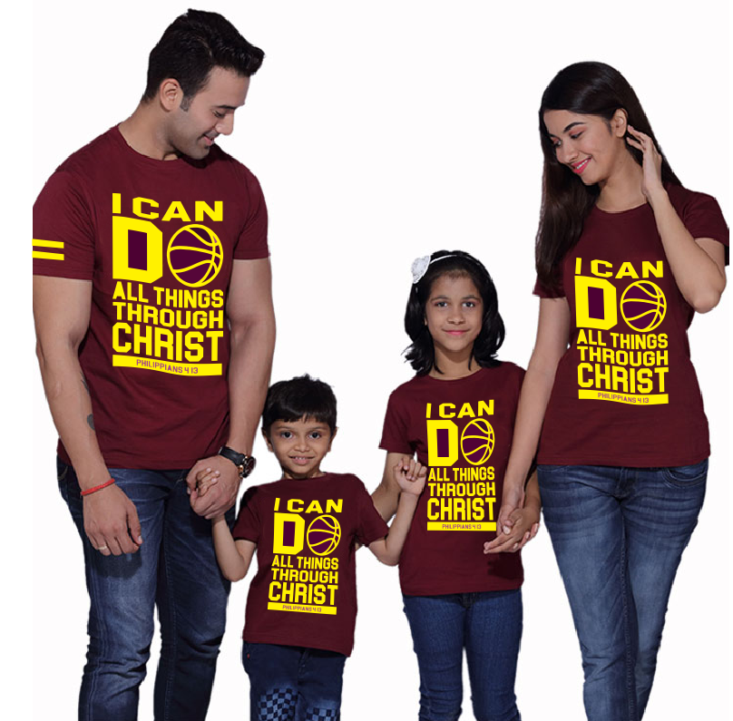 Buy I Can Do All Things Family Christian Shirt. GET 1 FREE
