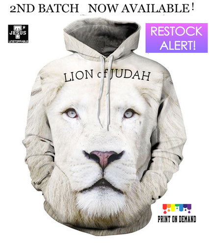 Buy 3D Lion Of Judah Hoodie.Free string bag today's promo