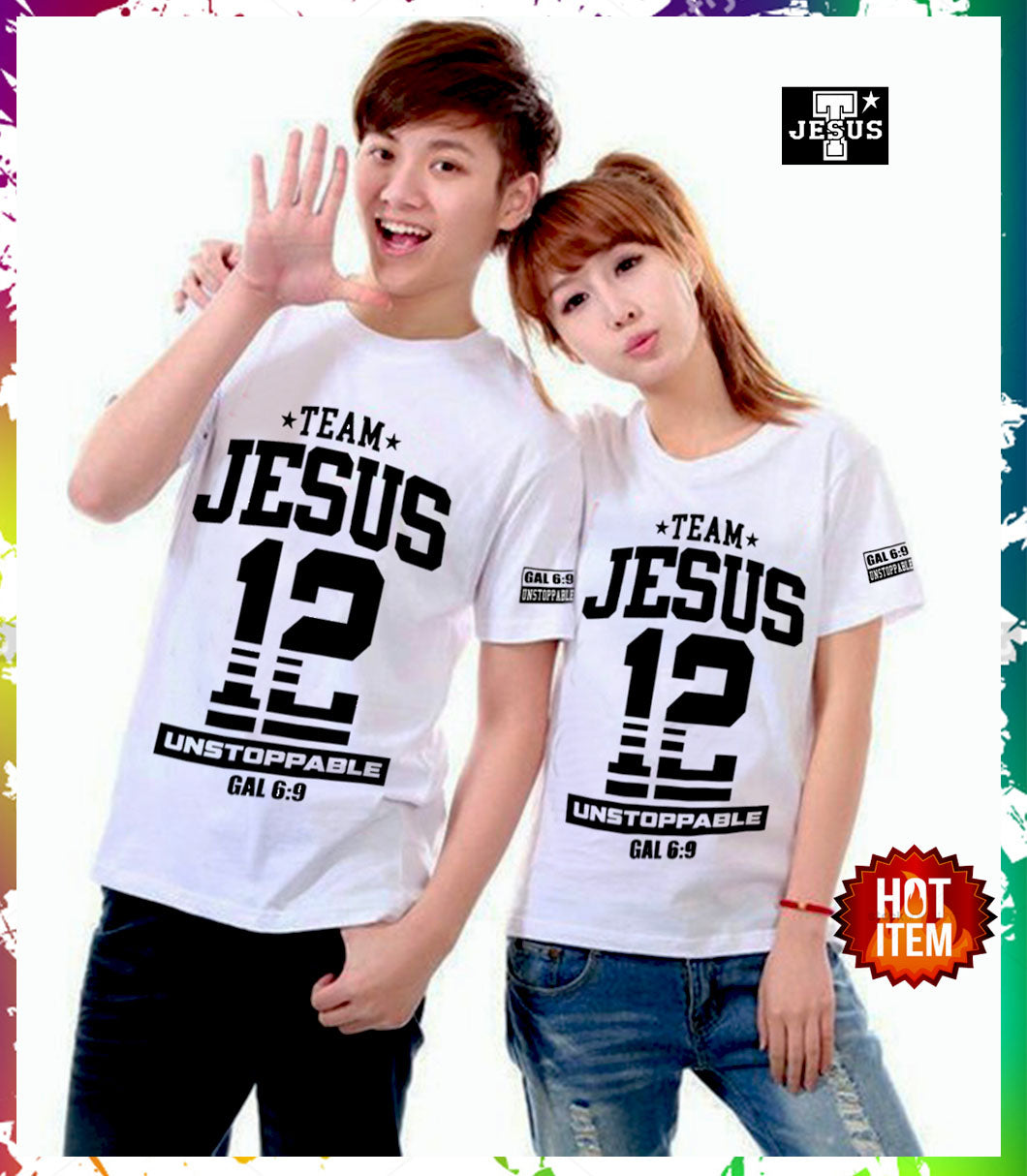 Matching Team Jesus Tee.Best Christian Couple Shirt In Town