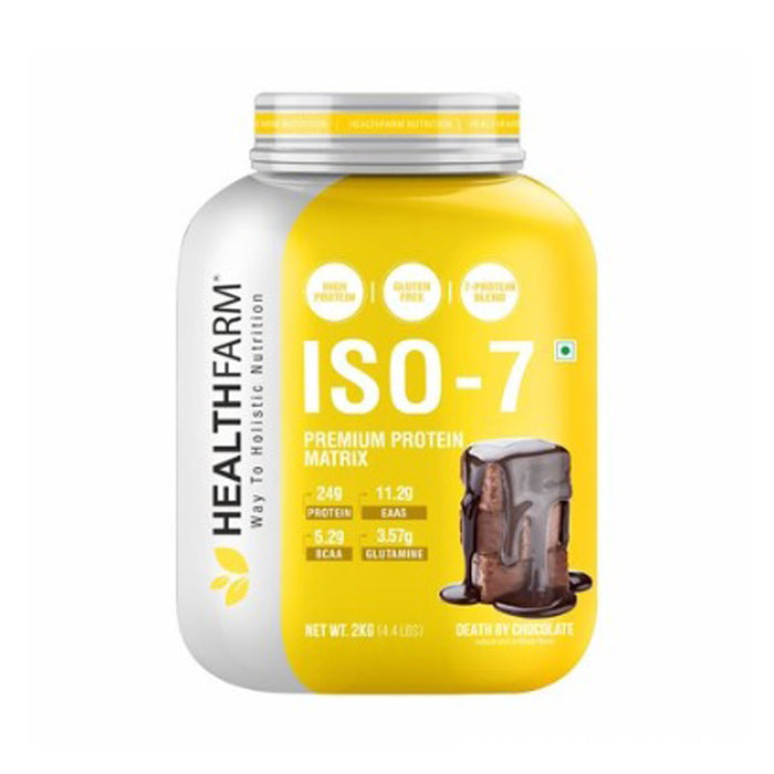 HEALTHFARM ISO 7 Premium Protein Matrix (2 KG/4.4 LBS,Death By Chocolate)
