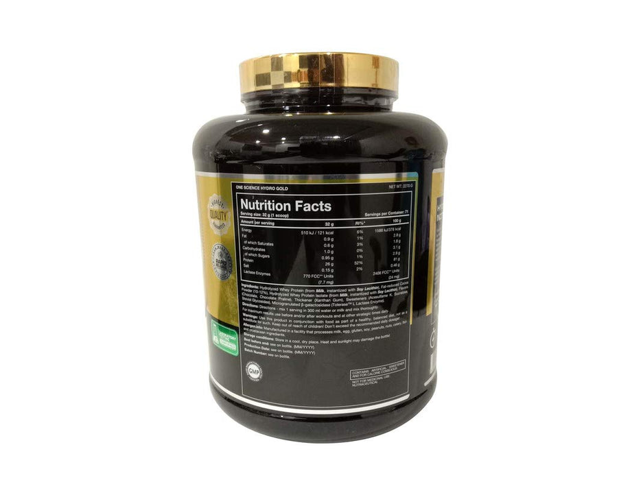 ONE SCIENCE HYDRO GOLD (HYDROLYED WHEY ISOLATE) 5LBS