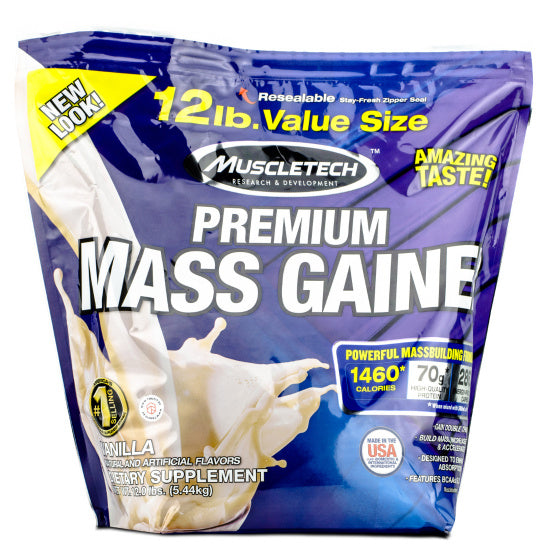 Premium Mass Gainer 12lb Muscletech Proteina Serious, Serving 2 Scoop (330g