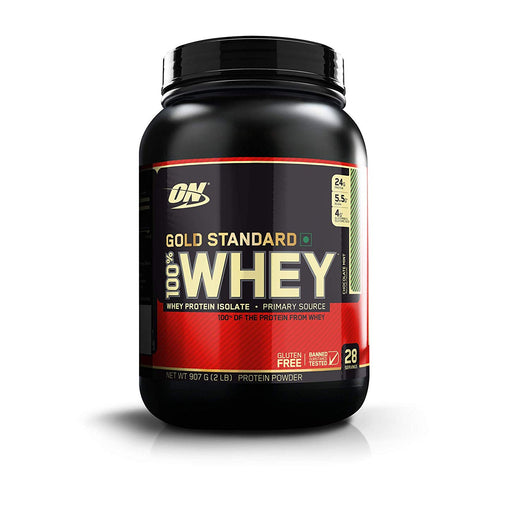 Optimum Nutrition (ON) Gold Standard 100% Whey Protein Powder - 2 lbs, 907 g, Serving 29